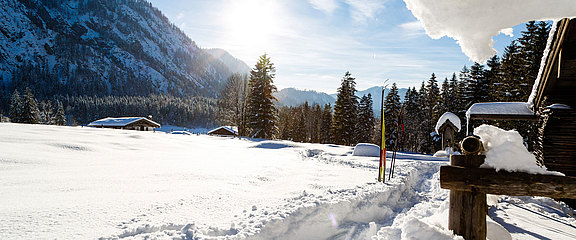 [Translate to Englisch:] Winterauszeit Ruhpolding