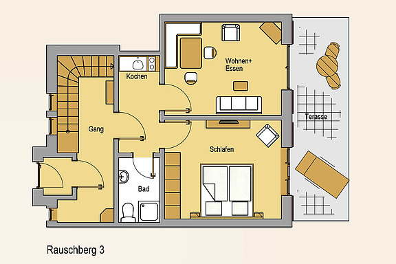 Floor plan from the apartment Rauschberg 3