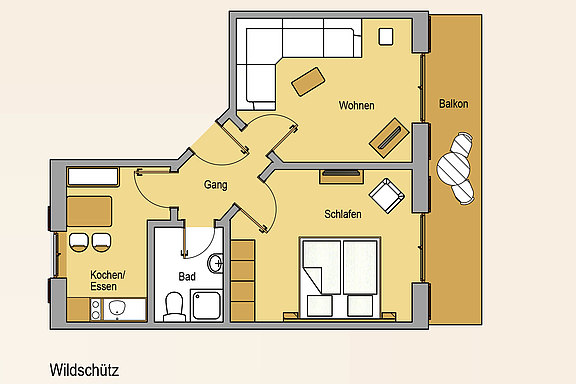Floor plan from the apartment Wildschütz